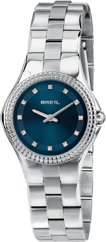 Reloj BREIL Mujer Curvy Esfera Azul e Correa in Acero, Movimiento Solo Tiempo - 2H Cuarzo