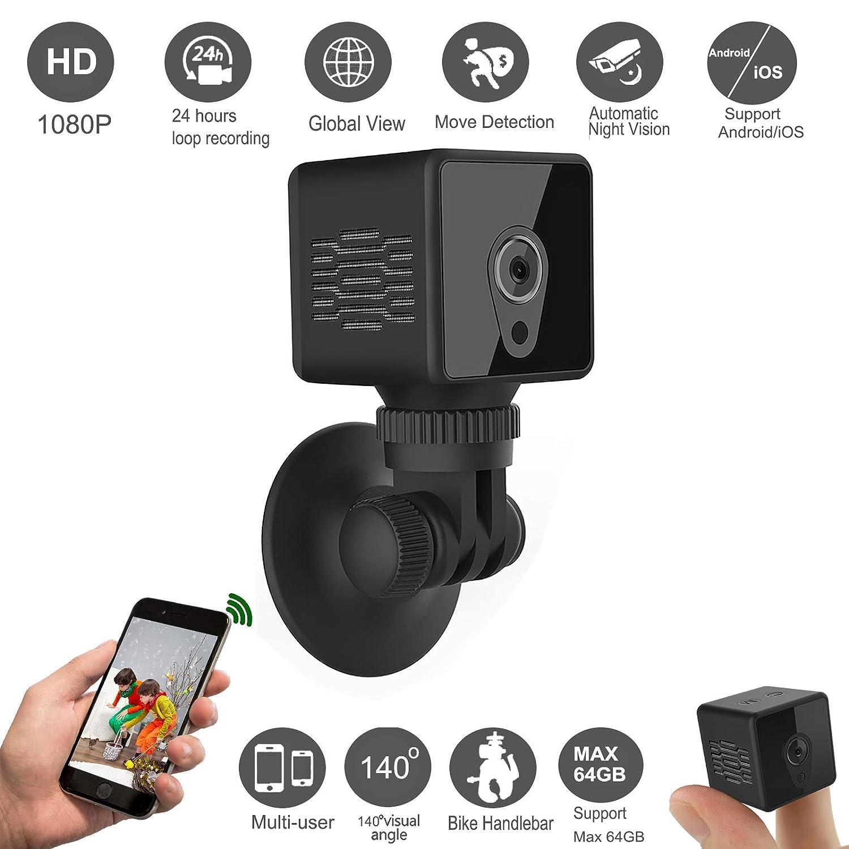 Gurmoir Mini Spy Hidden Camera Wireless WiFi Cam 1080P Spy Hidden Remote  Camera with Night Vision/Motion Detection,Nanny Cam Security Cam for
