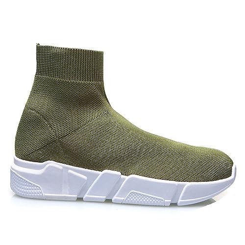 Popposhoes Scarpe Donna Ginnastica Sneakers Calzino No Lacci Palestra Corsa  Style Fitness (40 5f8b4170038
