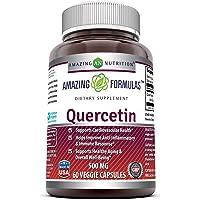 Amazing Formulas - Quercetin 500 Mg, 60 Vegetarian Capsules * Supports Cardiovascular Health, Helps Improve Anti…