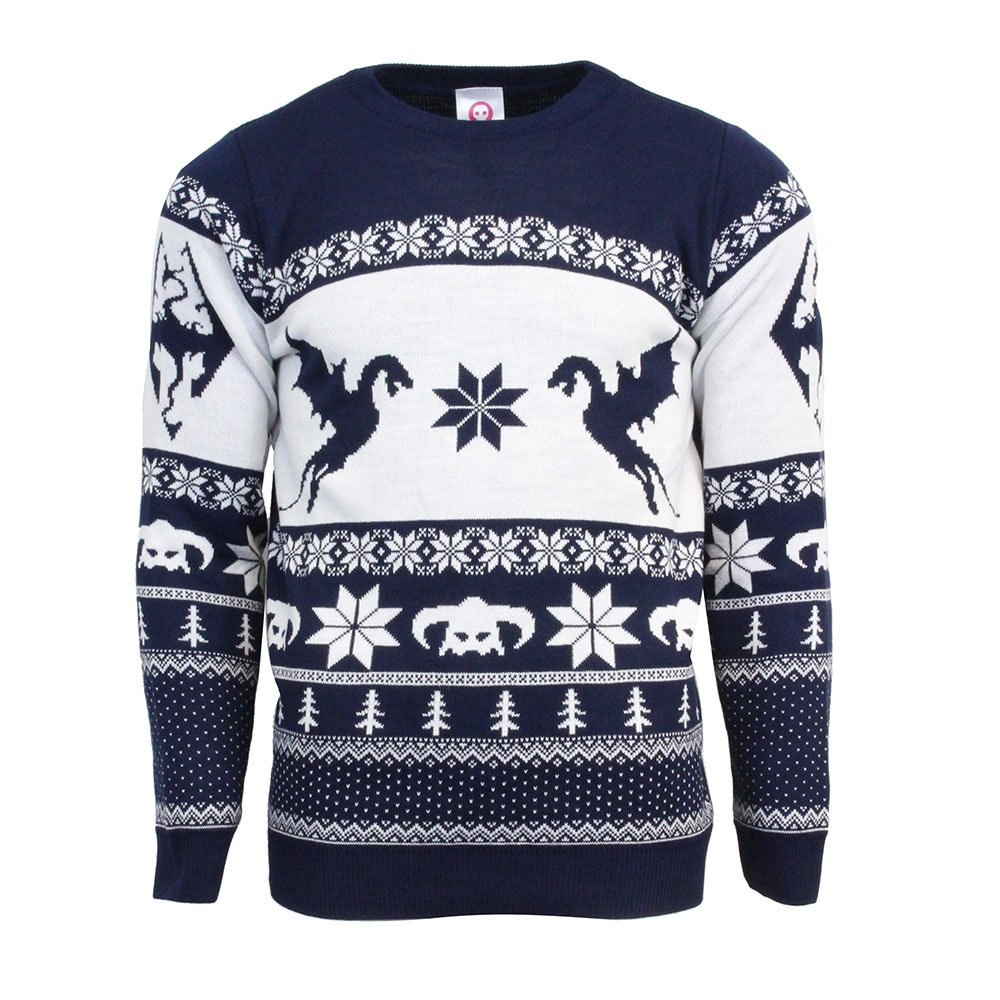 Numskull Official Skyrim Christmas Jumper/Ugly Sweater - (UK 4XL/US 3XL)