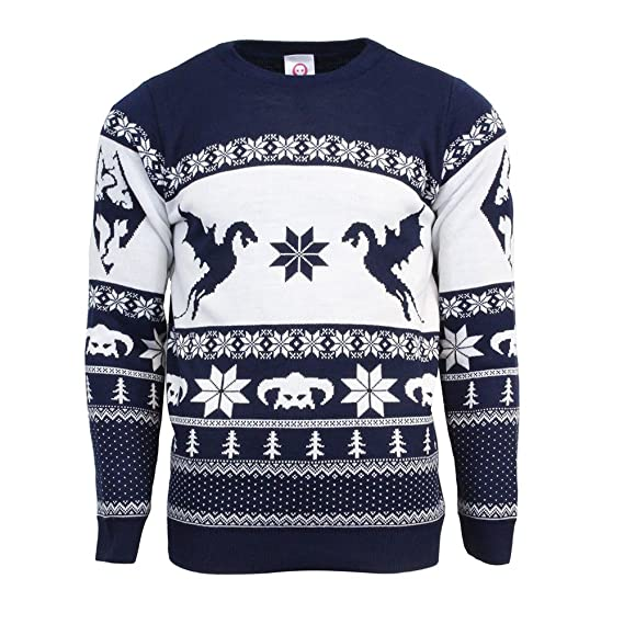 Official Skyrim Christmas Jumperugly Sweater Uk 3xlus 2xl