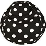 Majestic Home Goods Classic Bean Bag Chair - Large Polka Dots Giant Classic Bean Bags for Small Adults and Kids (28 x 28 x 22 Inches) (Black)