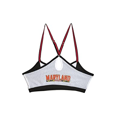 805a5b000a9ab nuyu University of Maryland Sporty Bralette with Keyhole Size S- Terrapins  White