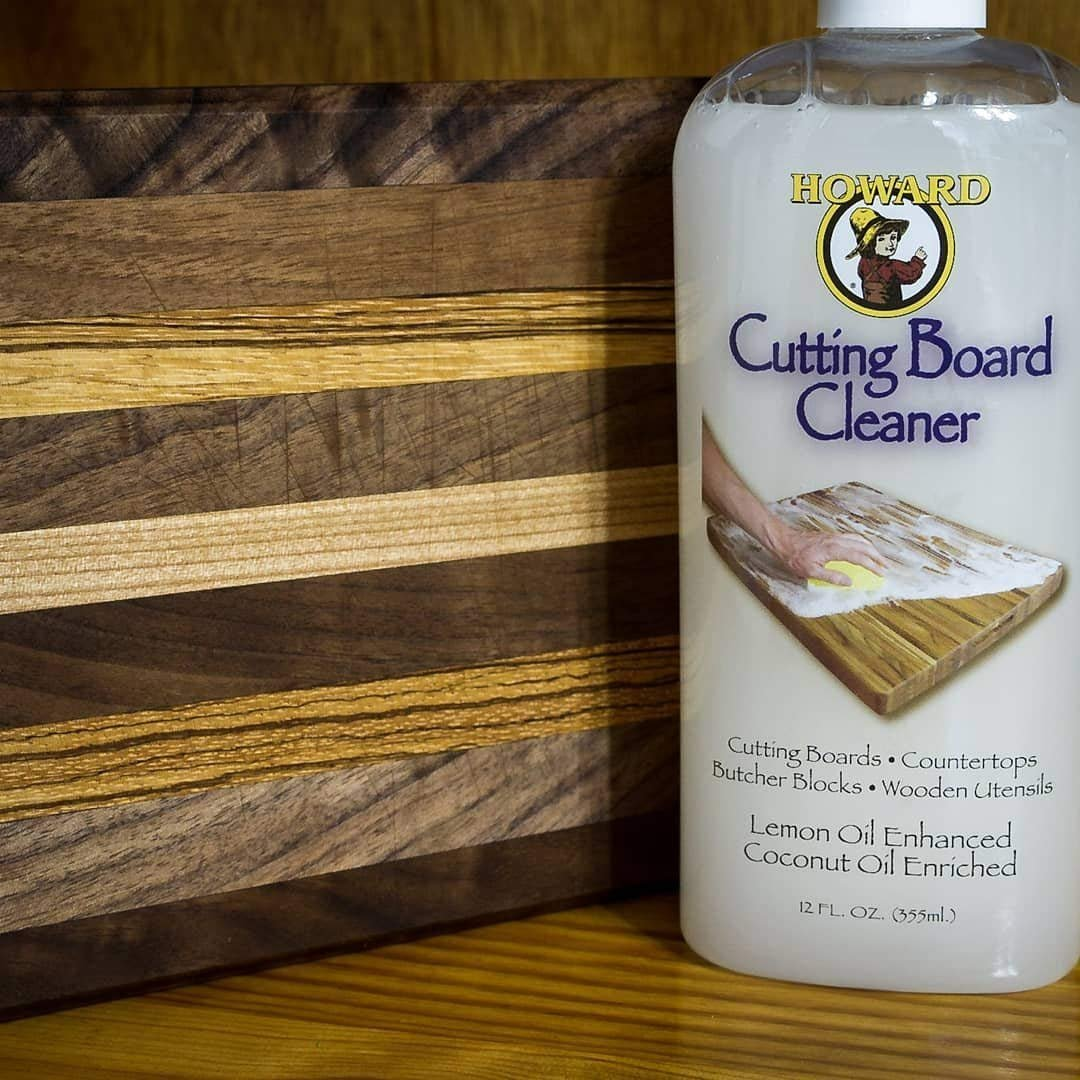 Howard Butcher Block Oil, Conditioner and Cutting Board Cleaner 12 Ounce, Food Grade Mineral Oil, Food Safe Wood Sealer