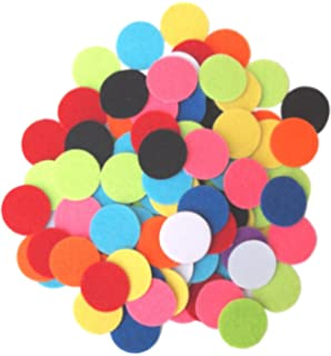 "100 pieces GRAB BAG 1.5/"" felt circles"