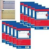 10 Carbonless Invoice Receipt Record Book 2 Part 50 Sets Duplicate Receipt Copy