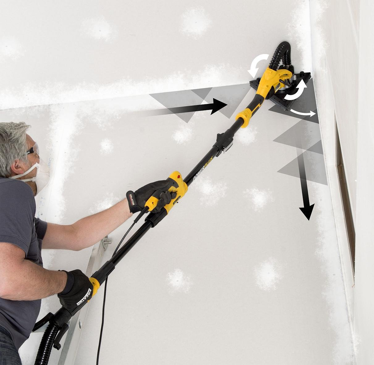 Lijadora de pared Aspiradora techo lijadora de la aspiradora industrial 30L