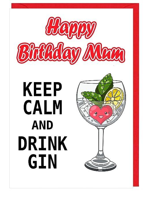 Funny tarjeta de cumpleaños para mamá - Gin y Tonic bebedero ...