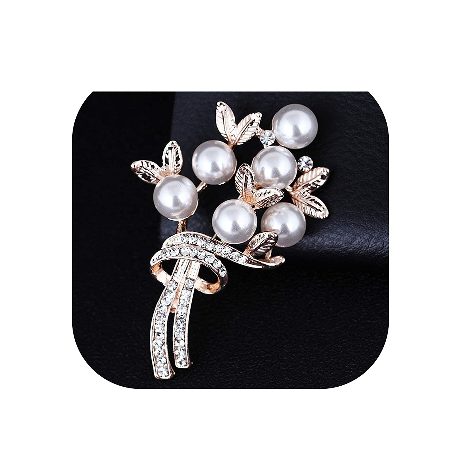 Romantic Pearl Crystal Flowers Brooches for Wedding Garment Accessories Women Men Suit Corsage Girls Dress Clips