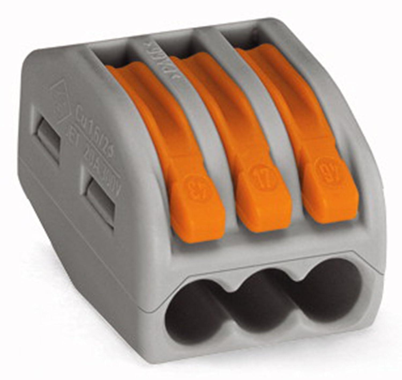 WAGO 222-413 LEVER-NUTS 3 Conductor Compact Connectors