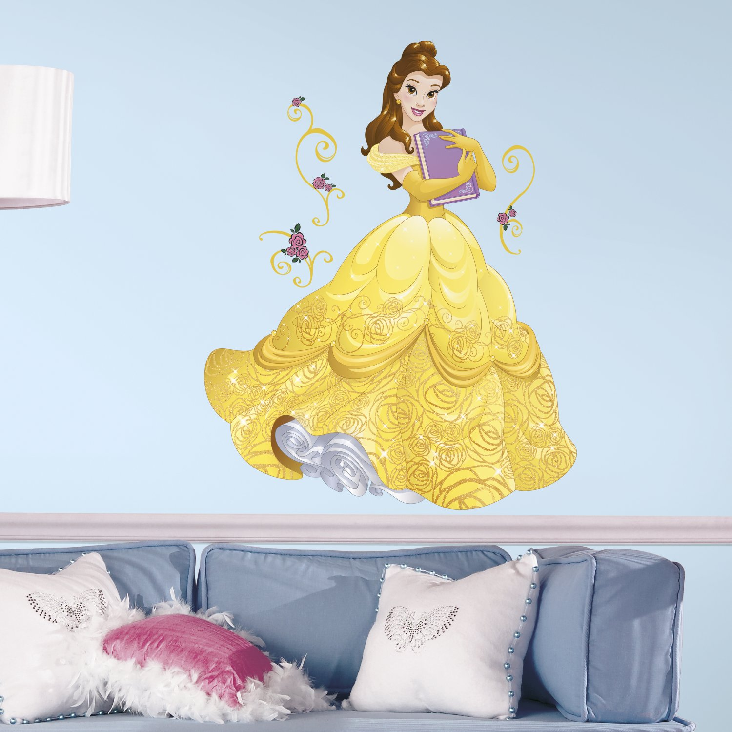RoomMates Disney Sparkling Belle Peel and Stick Giant Wall Decals