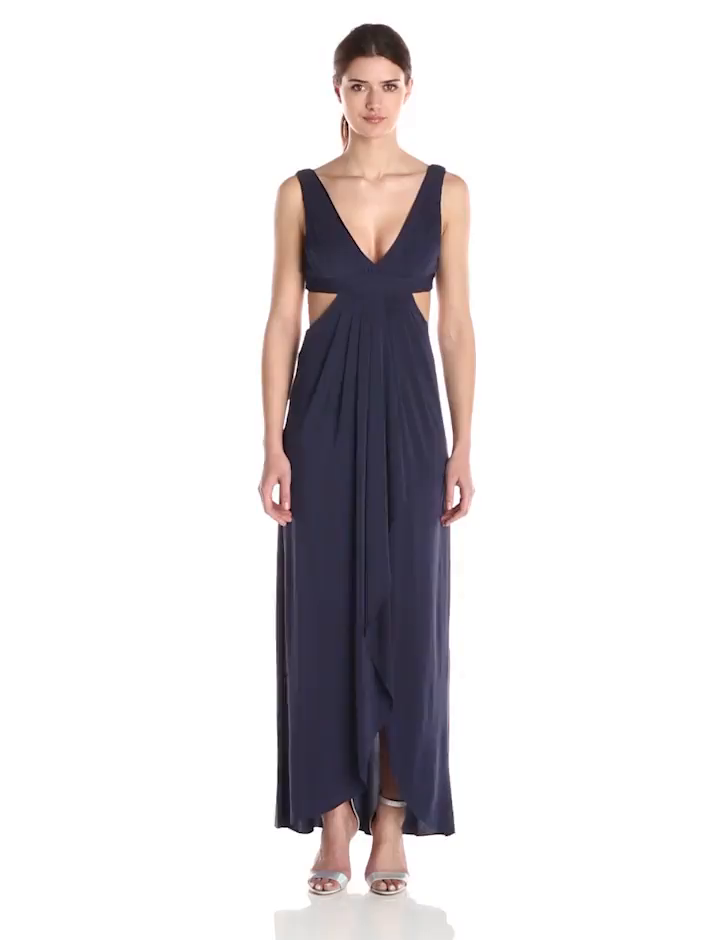 Amazon.com: BCBGMax Azria Women\'s Elinne Pleated Gown with Center ...
