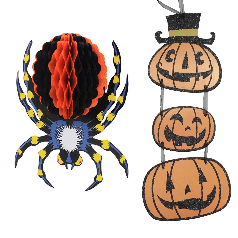 Buy Olen Halloween Hanging Pumpkin Props Decor Spider