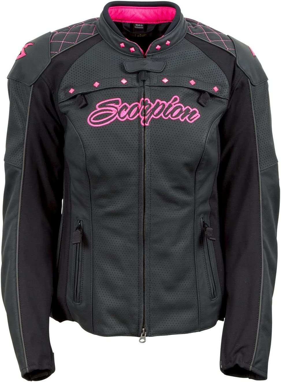 Scorpion Vixen Womens Street Motorcycle Jackets Pink//X-Small
