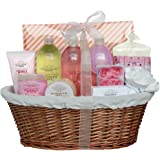 Gloss! Premium Garden Dreams - Cesta de baño regalo, rosa, lirio, freesia, jazmín y magnolia