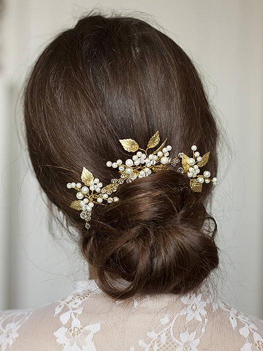 Top 10 Wedding Hair Decor Olive Leaf