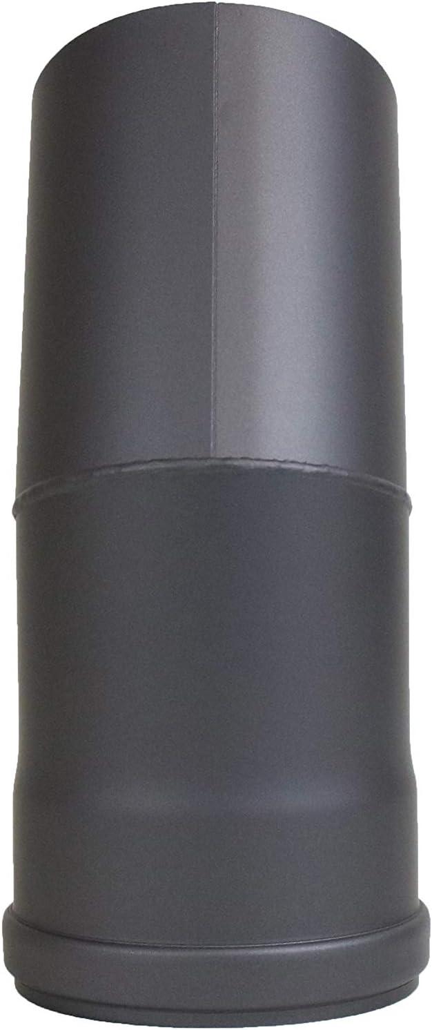 lanzzas Pellet Pell etrauch Tubo Pellet estufa de pellets Chimenea Tubo 30//° arco una vez acodado sin Lavado Color Gris Di/ámetro 100/Mm