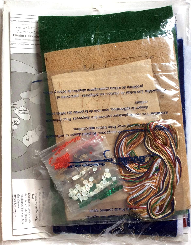 Felt Applique Stocking Kit 85173 Bucilla Silent Night