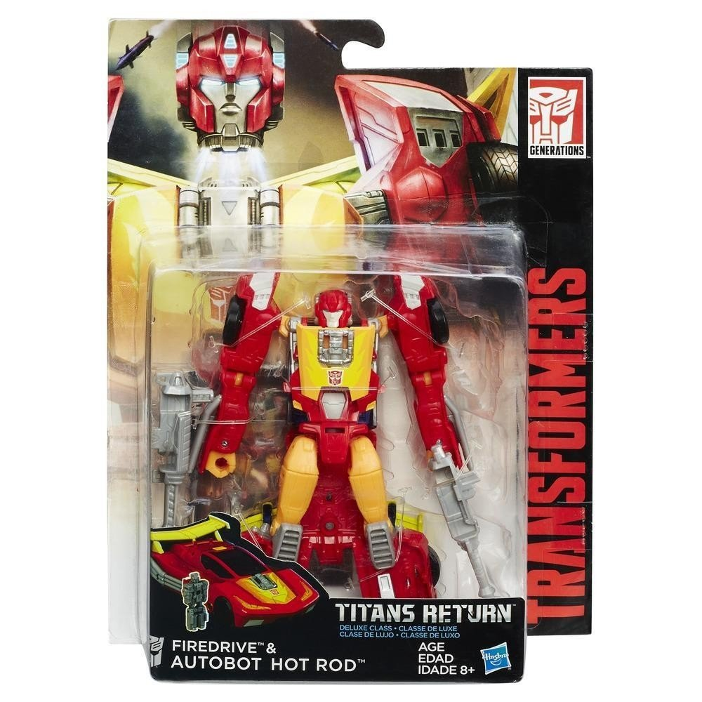 Transformers Generations Titans Return Auto Bot Hot Rod and Fire Drive Figure Hasbro C0271ES0