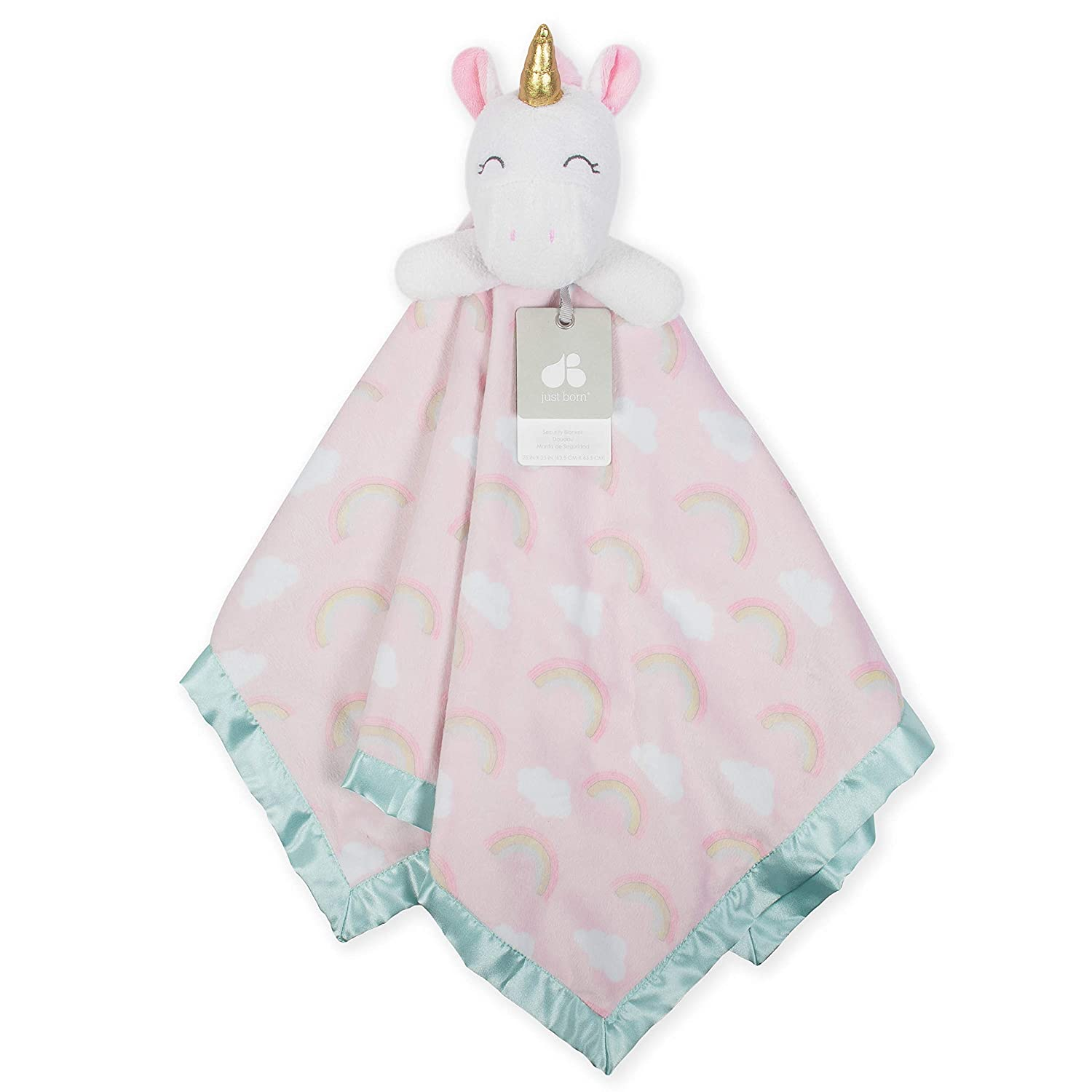 Just Born XL Security Blanket, Pink Unicorn, One Size