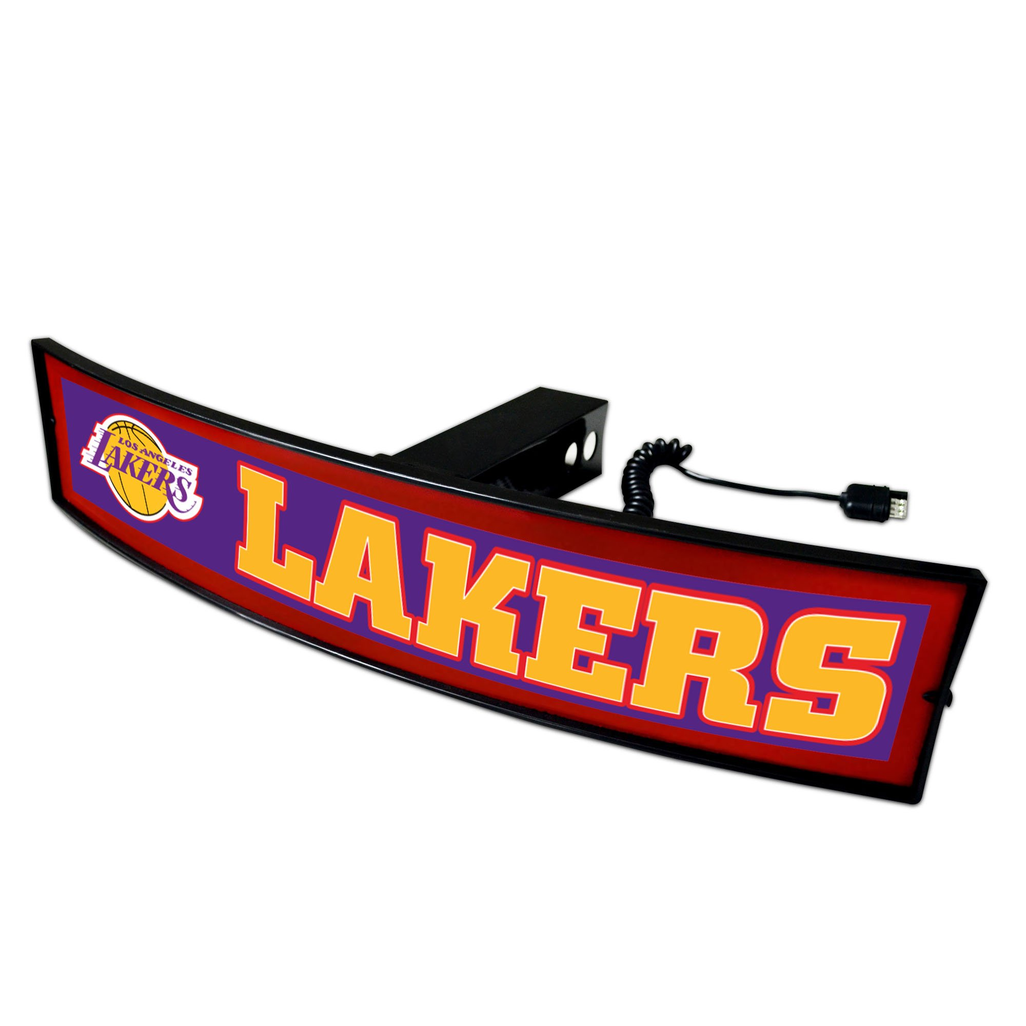 CC Sports Decor NBA - Los Angeles Lakers Light Up Hitch Cover - 21''x9.5''