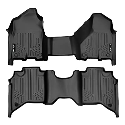 MAXLINER Custom Floor Mats Set (Both Rows 1pc) Black for 2020-2020 Ram 2500/3500 Crew Cab with 1st Row Bench Seat: Automotive