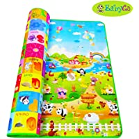 BabyGo Kids & Baby Waterproof Soft Double Side Baby Play Crawl Mat for Infant, Toddlers, Baby, Kids Safety Play