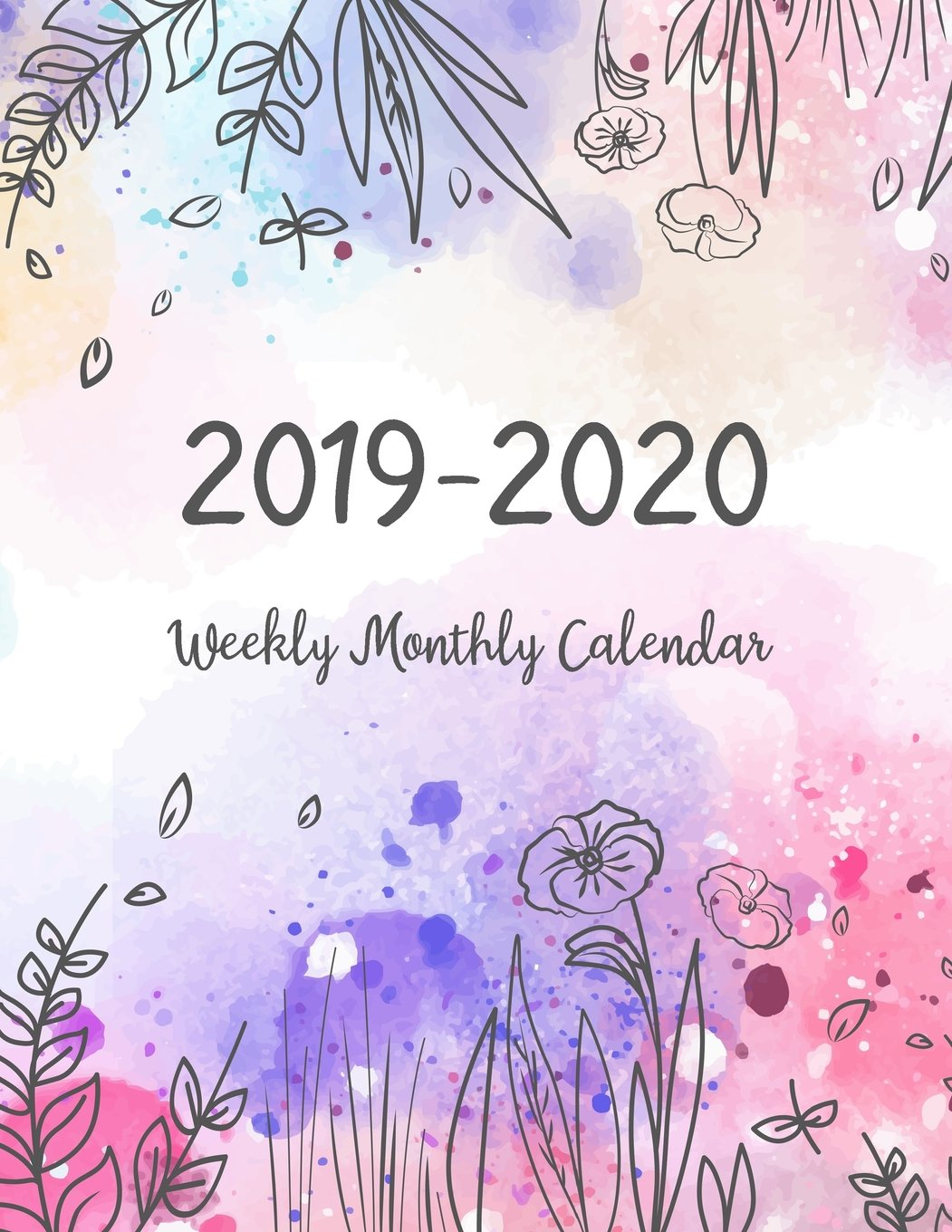 2019-2020 Weekly Monthly Calendar: Two Years - Daily Weekly
