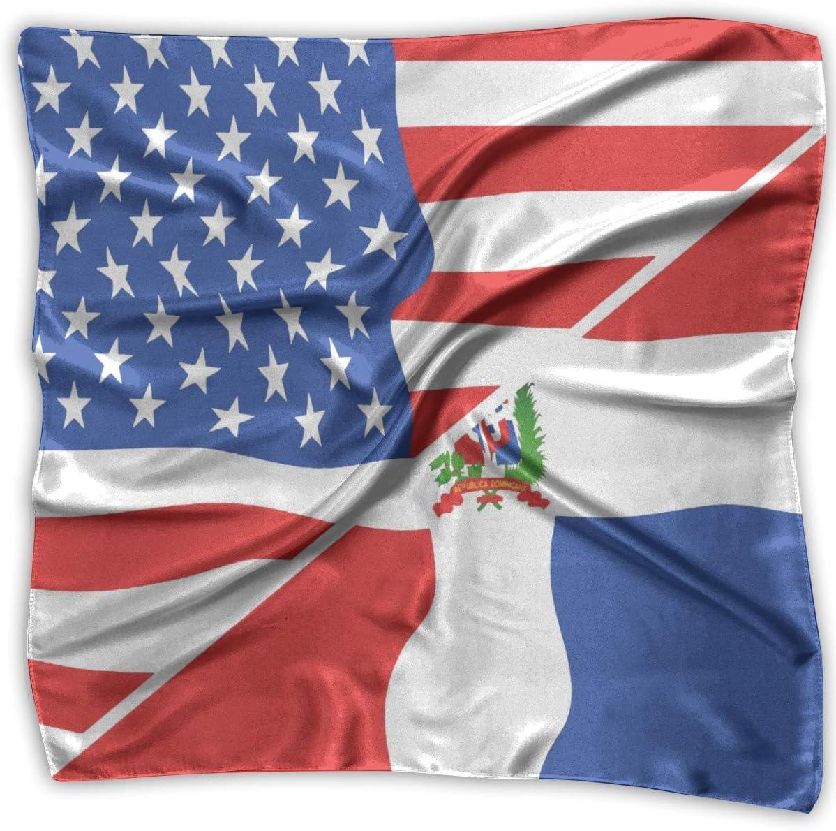 Diadema, Banderas De Estados Unidos Y Bufanda De Seda Cuadrada Dominicana, Hermosos Pañuelos Para Caballo De Montaña Ridin