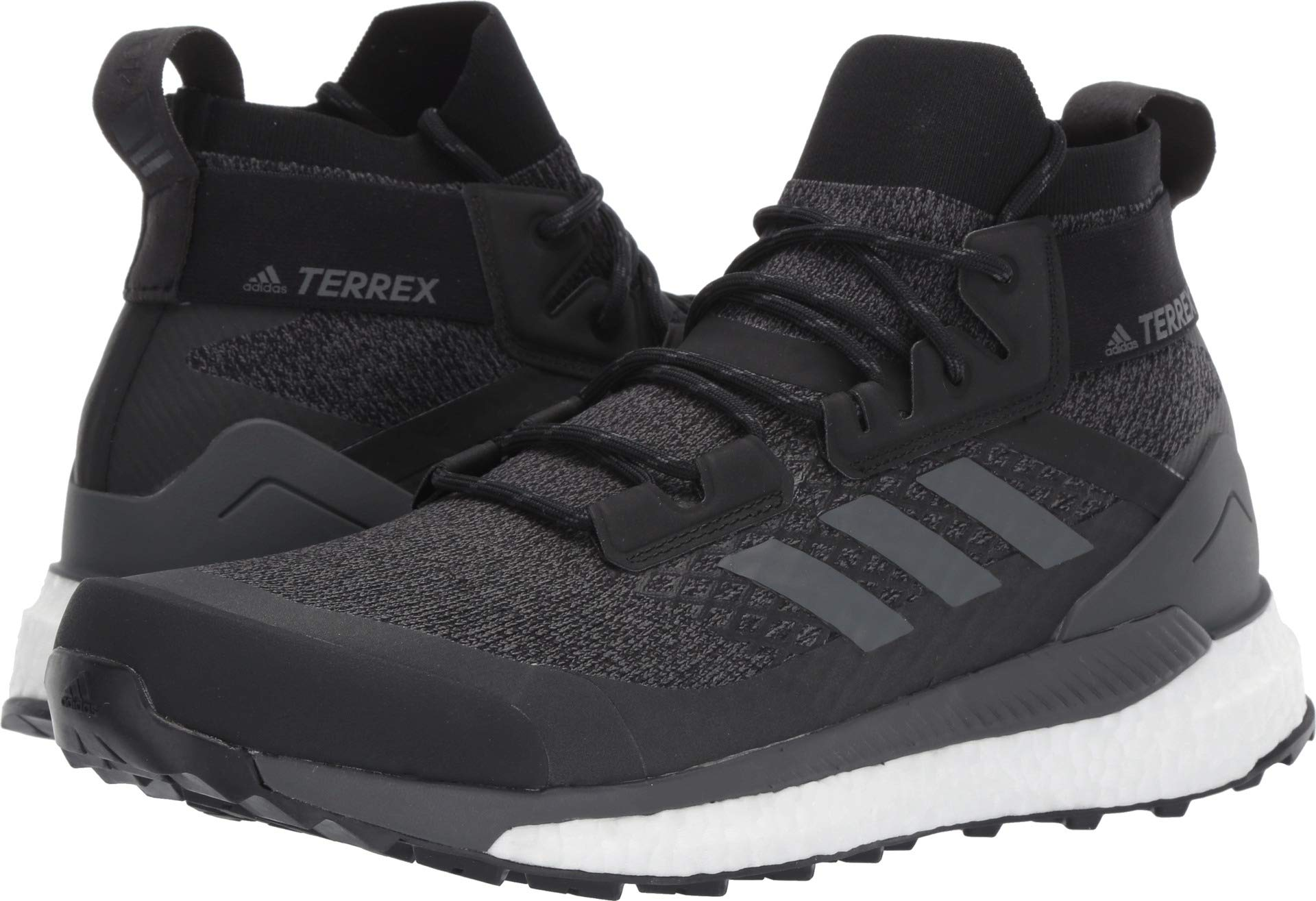 adidas outdoor Terrex Free Hiker Boot - Men's Black/Grey Six/Active Orange, 9.0 by adidas outdoor (Image #1)