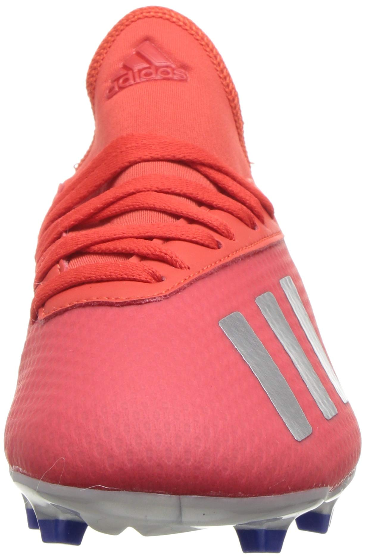 adidas X 18.3 Firm Ground, Active red/Silver Metallic/Bold Blue 13K M US Little Kid by adidas (Image #4)