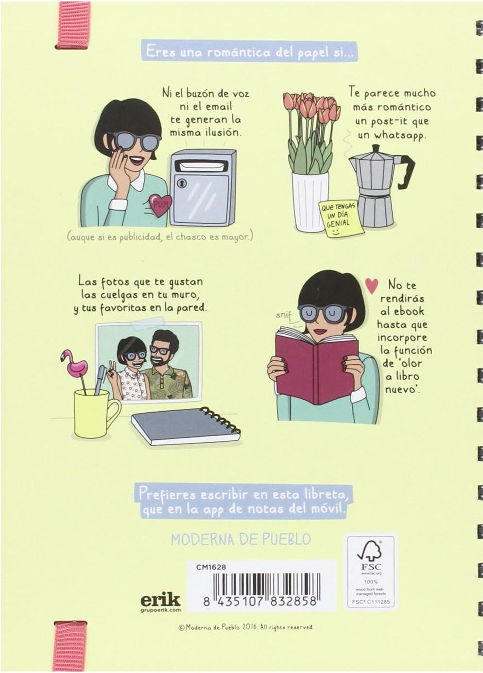 Cuaderno Tapa Forrada Premium A5 Moderna De Pueblo 3: Amazon.es ...