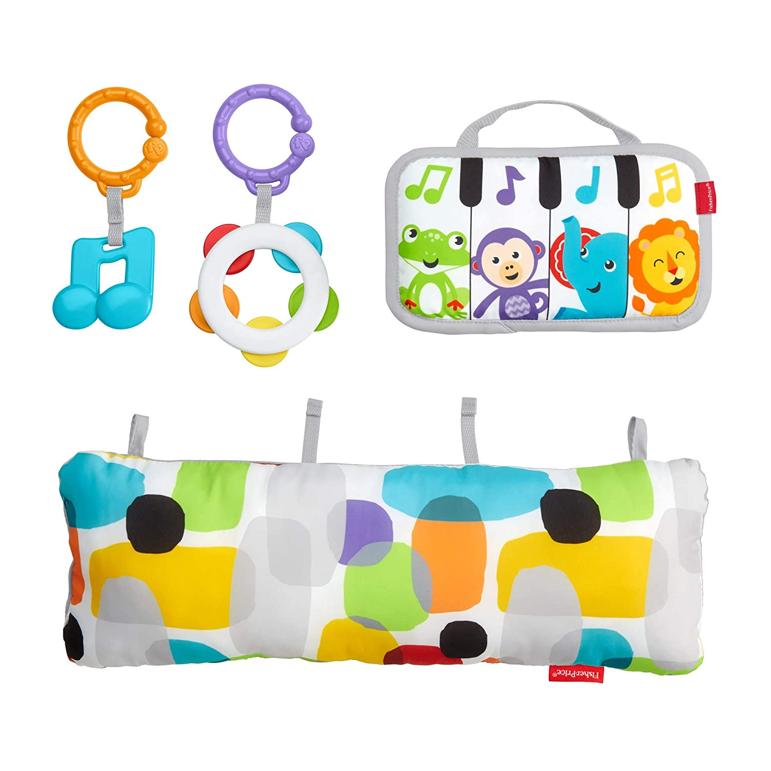 Fisher-Price Mini Musicians Piano Wedge Tummy Time Baby Toy