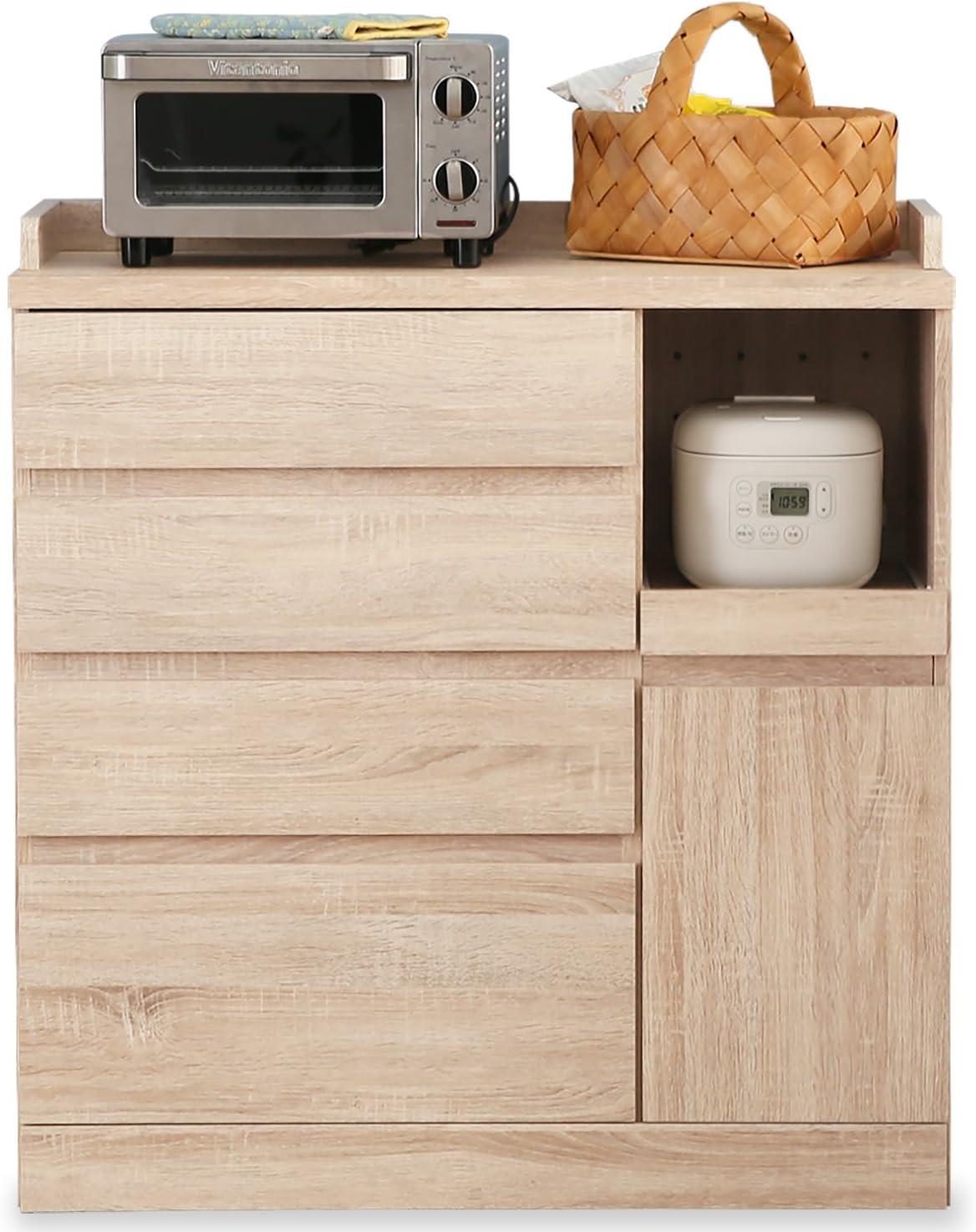LOWYA キッチン収納 食器棚
