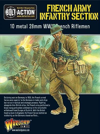 Amazon.com: Ejército Francés: Sección De Infantería, 28 mm ...