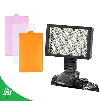 TSSS - Foco para cámara réflex digital y videocámara (160 ledes de ...