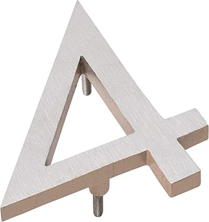 Montague Metal Products MHN-08-4-F-TE2 Floating House Number 8 x 6.63 x 0.375 Taupe Two Tone