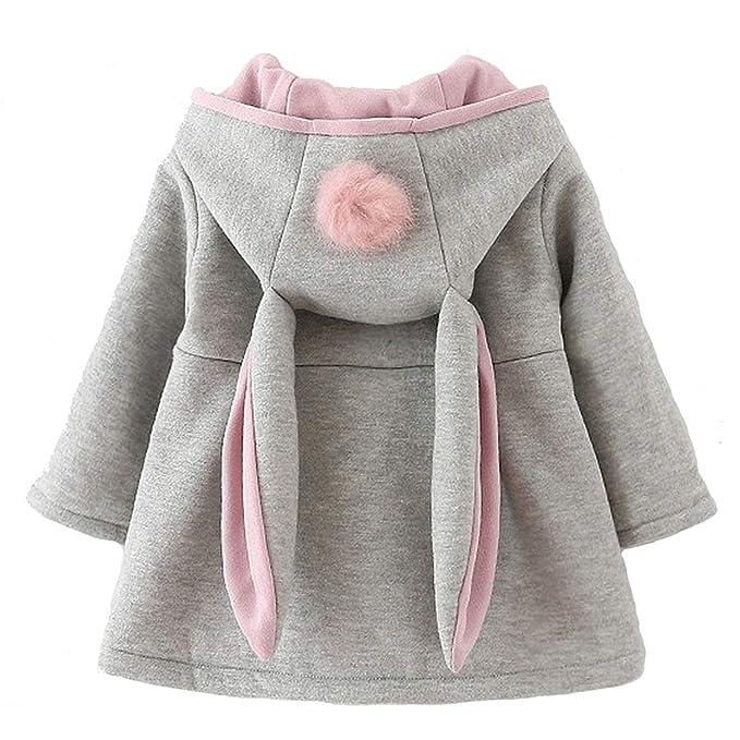 fd3990efc6bfc Avidqueen Cute Toddler Baby Girl's Kids Fall Winter Coat Jacket Outerwear  Ears Hood Hoodie