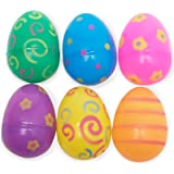 Jumbo Plastic Printed Bright Easter Eggs Pack of 12