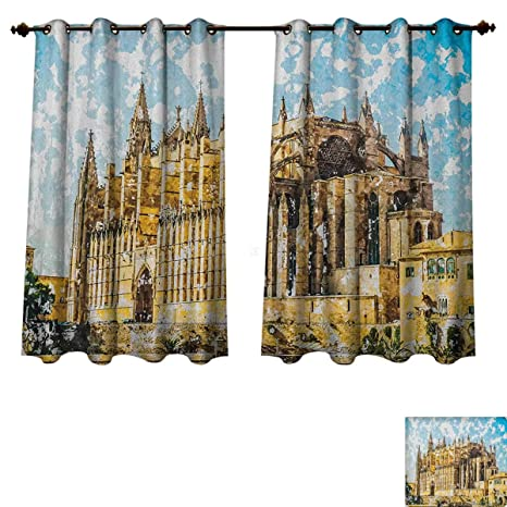 Amazon.com: Gothic Blackout Thermal Curtain Panel Big Gothic ...