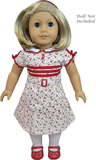 "American Girl KIT/'S REPORTER DRESS for 18/"" Dolls Outfit Shoes Historical Kit NEW"