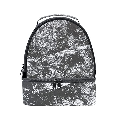 24feff72bbc0 Amazon.com: Insulated Lunch Bag Abstract Vintage White Black Marble ...