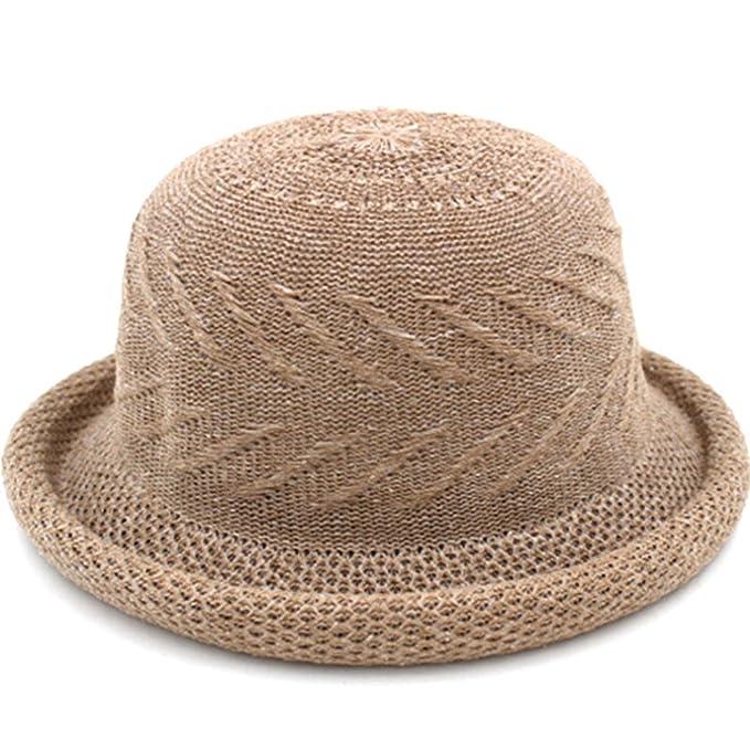 JIANCHIJY Cappello di Paglia di Estate e della Sorgente Bucket Hat  Pescatore ha cappellispiaggia nessun visualizzatore b5dff6b4d408