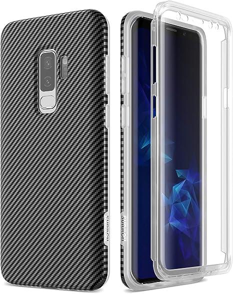 SURITCH Funda para Samsung Galaxy S9 Plus Silicona 360 Grados Carbono Bumper Flexible TPU Elegante Delantera y Trasera Irrompible Caso Carcasa Samsung Galaxy S9 Plus: Amazon.es: Electrónica