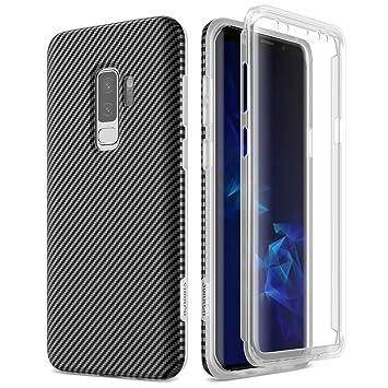 SURITCH Funda para Samsung Galaxy S9 Plus Silicona 360 Grados Carbono Bumper Flexible TPU Elegante Delantera y Trasera Irrompible Caso Carcasa Samsung ...
