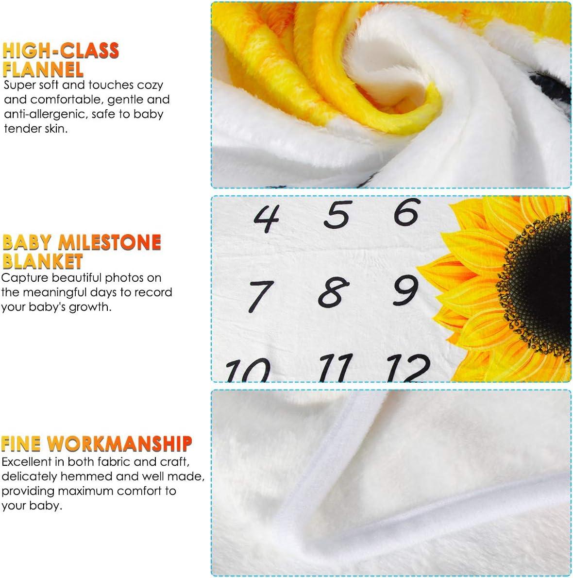 Manta de forro polar para beb/é reci/én nacido Rehomy 39,4 x 29,5 pulgadas regalos para beb/és y ni/ños regalos de fotos y fondos de girasol manta de franela para reci/én nacidos