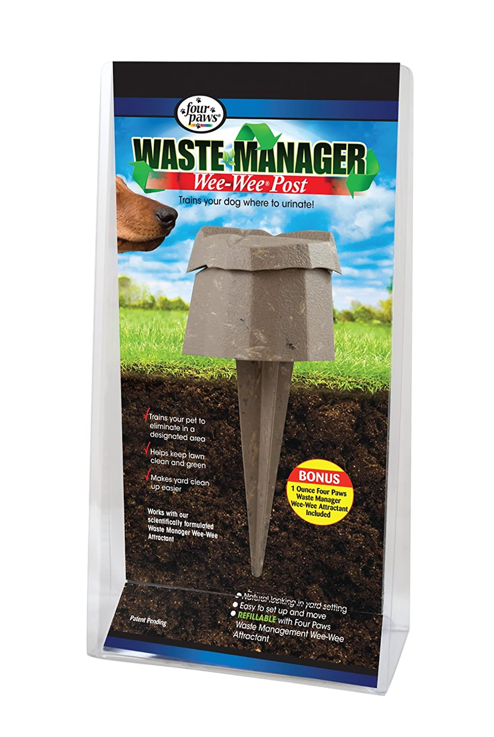 Amazon.com : Four Paws Waste Manager Dog Wee-Wee Post : Planters ...