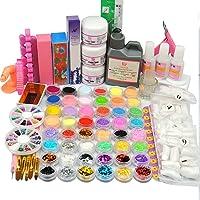 Coscelia 24pc Colores Acrílica Líquido Polvos para Clavo Glitters Archivos Puntas de Uñas Herramientas de Manicura Arte del Clavo Nail Kits