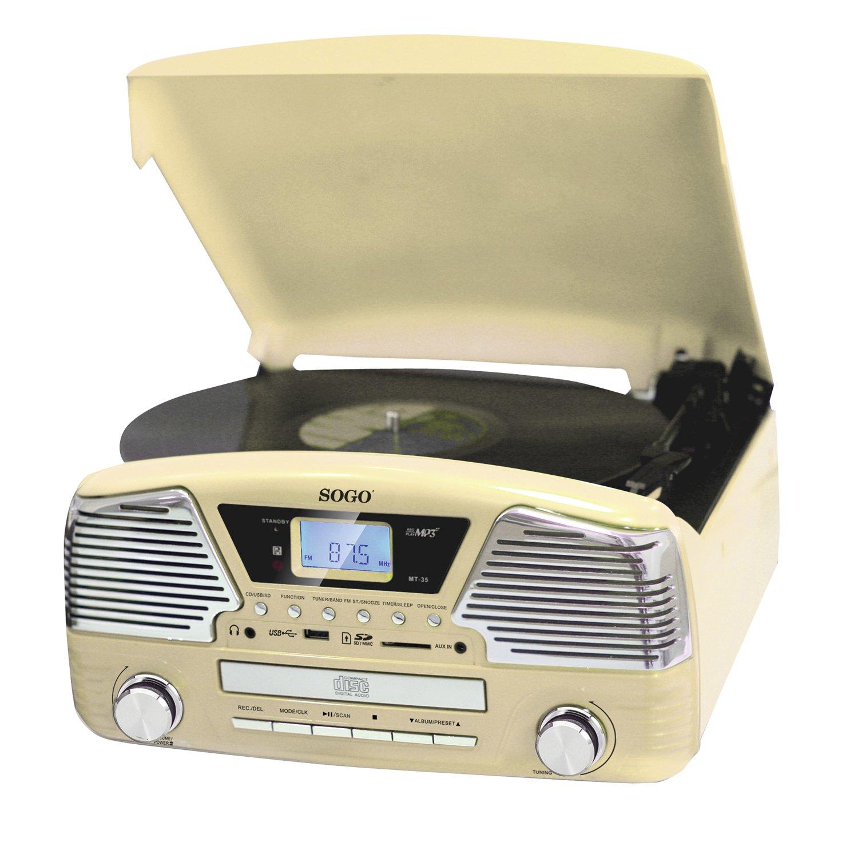 Tocadiscos Radio - USB - AUX IN: Amazon.es: Electrónica